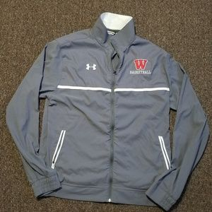 2/$40 Under Armour Wisconsin Basketball Jacket Med